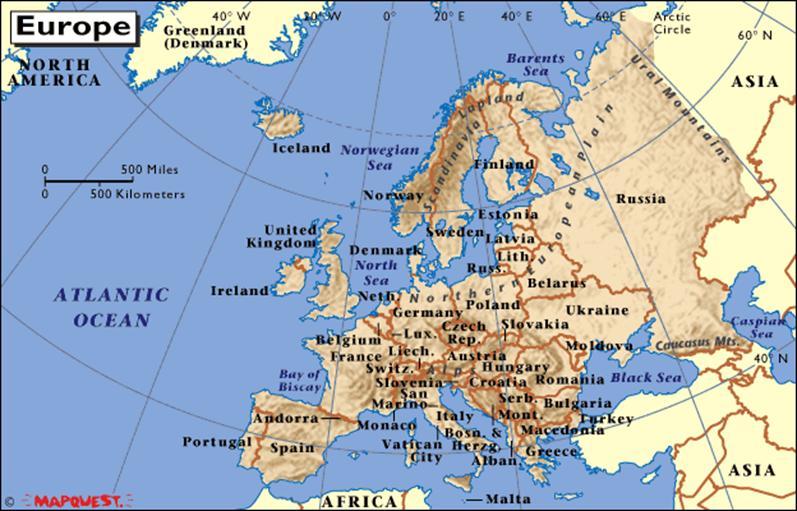 North Sea Europe Map.North Sea Map Europe 65008 Usbdata