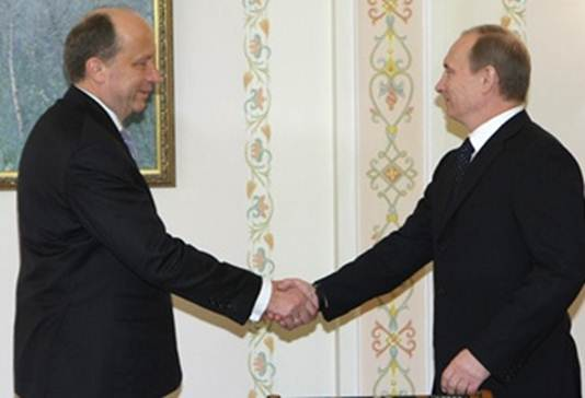 Prime Minister Vladimir Putin meets with Lithuanian Prime Minister Andrius Kubilius