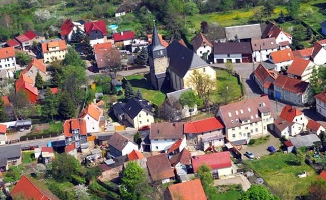Gotha-Sundhausen aus der Luft