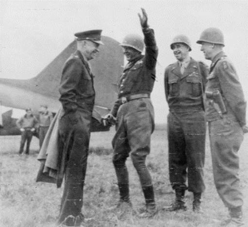 Free Photo: General Eisenhower With Generals Patton, Bradley, and Hodges