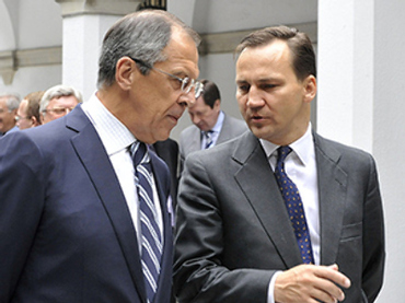 Russian Foreign Minister Sergey Lavrov and his Polish counterpart Radosław Sikorski (RIA Novosti / Eduard Pesov)