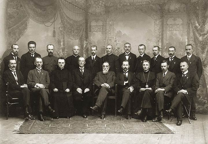 Description: File:Signatarai.Signatories of Lithuania.jpg