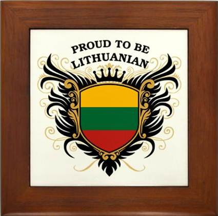 Description: Proud to be Lithuanian Framed Tile