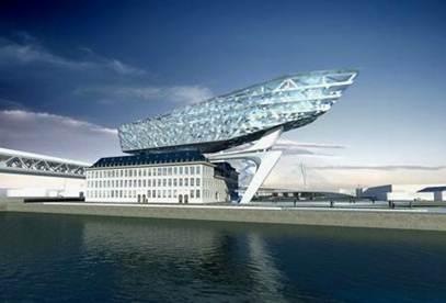 port house antwerp 2 Antwerp Port House   Zaha Hadid architects